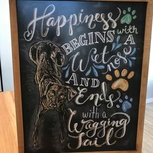 """Pier 1 """"Wet Nose & Wagging Tail"""" Wall Art-NWT"""